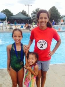 My nieces at a dive meet